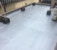 京都府京都市 鉄骨階段(塗装)・防水工事・防塵工事の様子