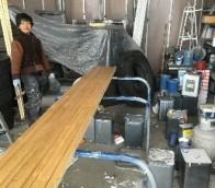 ガートラック(防腐剤)施工の様子