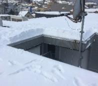 雪庇落としの様子/施工前・施工後