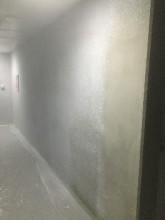 北見市新築マンションの吹付塗装