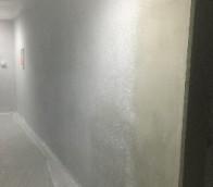 北見市新築マンションの吹付の塗装工事